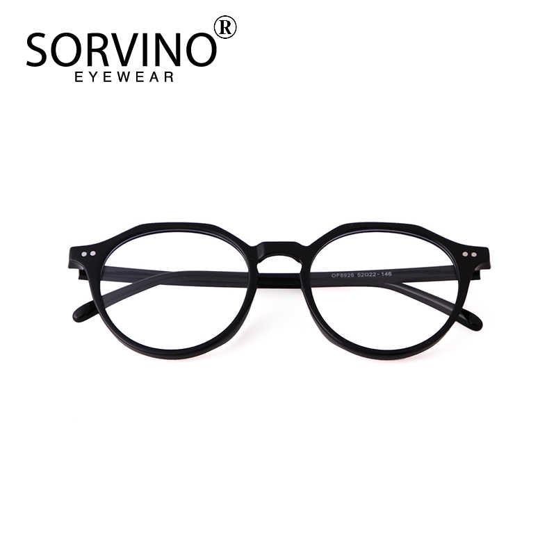 Sorvino 2020 New Glasses Acetate Frame Literary Concave Shape Flat Mirror Female Big Round Face Thin Anti Blue Light Eyeglass Aliexpress