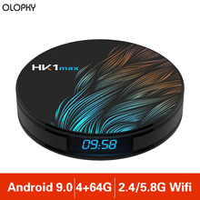 New 4G 64G HK1 Max Smart TV Box Android 9.0 Quad Core 4K Wifi BT4.0 Google Play Store Netflix Youtube Set Top Box Media Player 2019 best stable media player smart tv box netflix youtube h96max max rk3318 android tv box 2 4 5 0g wifi h 265 tv set top box