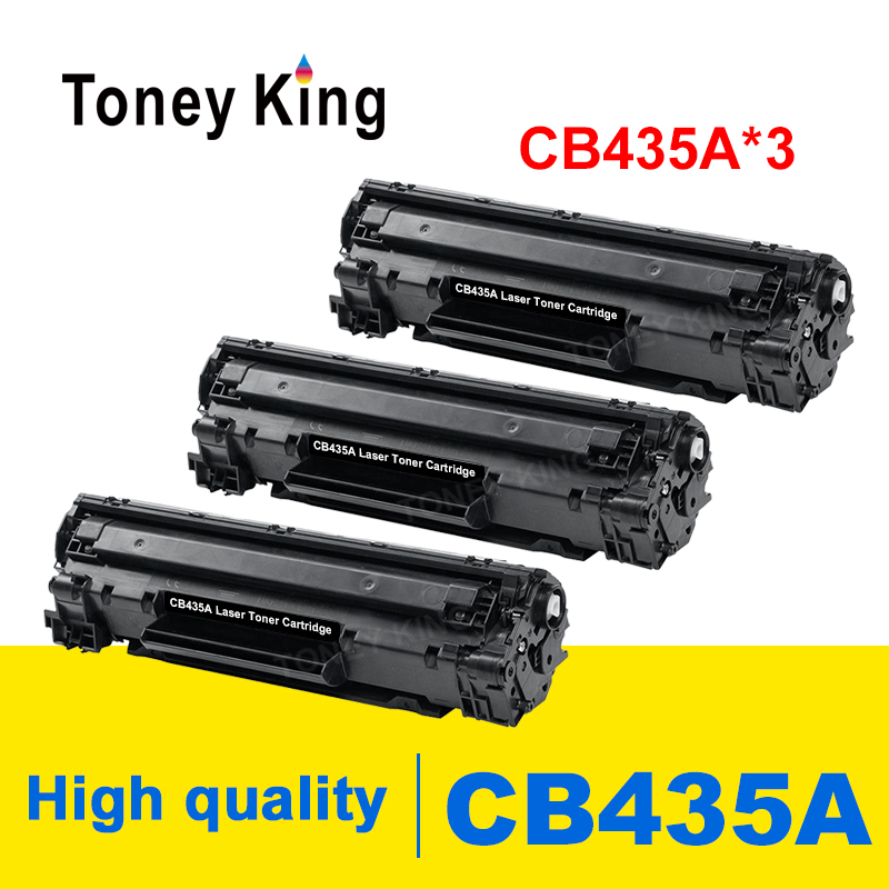 Toney King 3 pack CB435A 35A CB 435A CB435 435 A <font><b>toner</b></font> cartridge for <font><b>HP</b></font> LaserJet P1005 <font><b>P1006</b></font> P 1005 1006 printer powder image