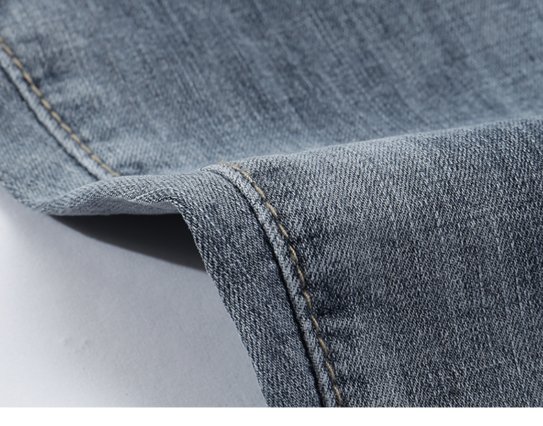KSTUN Jeans Shorts Mens Grey Jeans Stretch Slim Straight Vintage Casaul Pants Summer Denim Shorts Male Jeans High Quality Brand 17