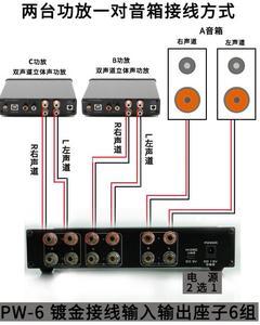 Image 2 - חדש FX אודיו PW 6 Amplificador HIFI דיגיטלי אודיו מגבר Switcher Spiltter בורר מוצלב 2 דרך רמקול Amp ממיר