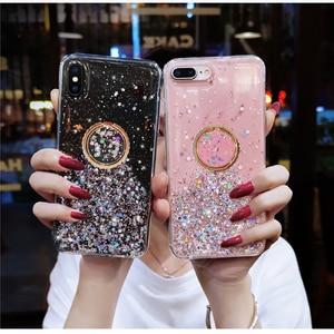 Прозрачный чехол с блестящим кольцом для Huawei Y9 Prime 2019 P Smart Y7 Y6 Y5 P9 P10 Honor 10 Lite Honor 7A P30 P20 Lite, чехол
