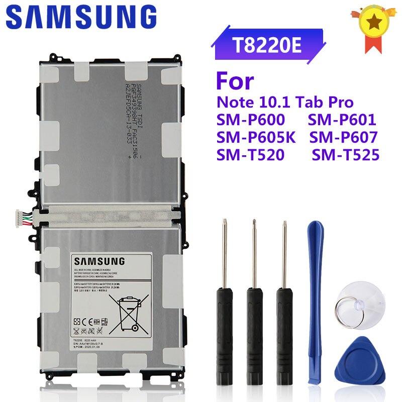 SAMSUNG Original Battery T8220E T8220C/U For Samsung GALAXY Note10.1 Tab Pro P600 P601 P605 SM-P605S SM-P605K P607T T520 SM-T525