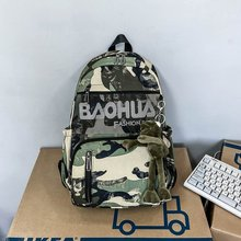 2020 Nylon Camouflage Color Backpack Casual Large Capacity Shoulder Bag Women Backpack Teenage Girls School Bag Travel Bagpack