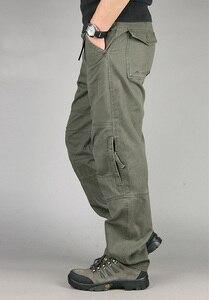 Image 5 - 30 40 yüksek kaliteli erkek kargo pantolon Baggy rahat erkekler taktik pantolon çok cep askeri genel erkek açık havada uzun pantolon ordu