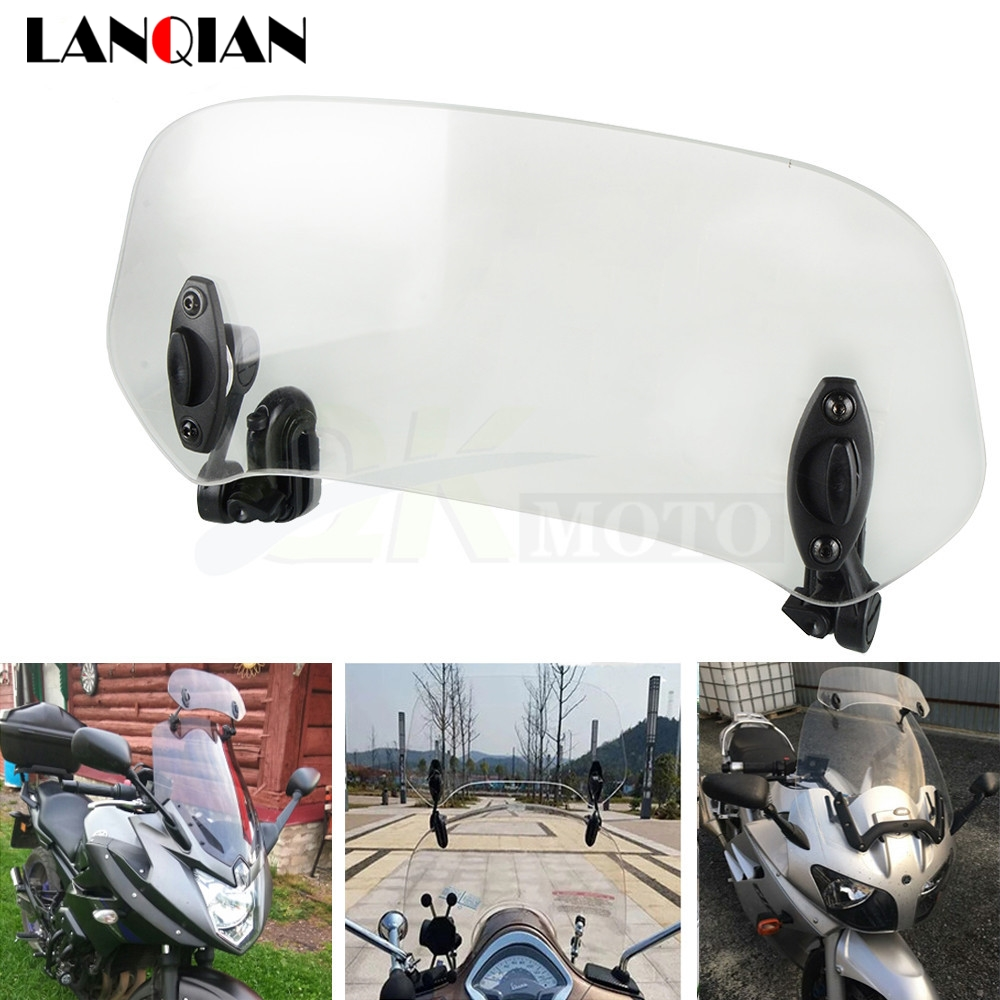 Motorcycle Universal Windshield part Adjustable Screen Extension Spoiler Wind air <font><b>deflector</b></font> For Honda nc 750S 750x <font><b>NC750X</b></font> NC750S image