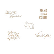 Elegant greetings Thank You Happy Thinking Hot Foil Plate for DIY Scrapbooking Letterpress Embossing Paper Cards Crafts New 2019