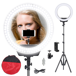ZOMEI 16 inch Ring Light Adjustable Color Temperature 3200K-5600K Video Shooting Portrait Lamp With Tripod Stand For Camera