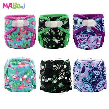 MABOJ Newborn Diaper Cover Newborn AIO Cloth Diapers Baby Nappy Reusable NB Nappies Insert Washable Pocket Diaper Pants Liners блокнот 80л феникс а6 лавандовое поле клетка на спирали 45868
