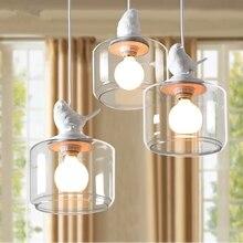 Industrial Vintage Modern Loft Pendant Light Lamp Luster Bird  Glass Lampshade E27  Bar Lamps Restaurant Bedroom  Light Fixture стоимость