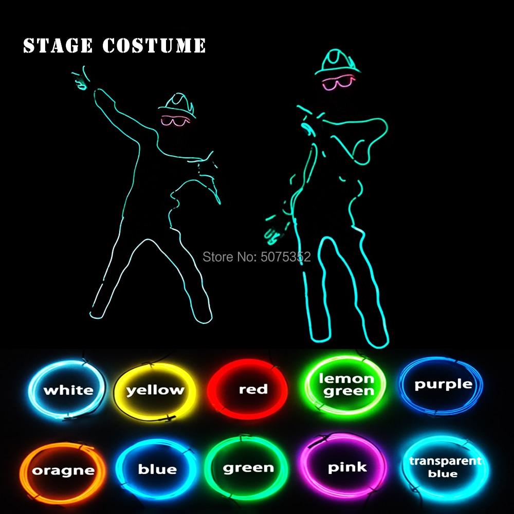 10 Цвета варианты ночной клуб, светодиодный костюм для танцев DJ со светящимися вставками обувь для выступлений на сцене костюм EL для карнава