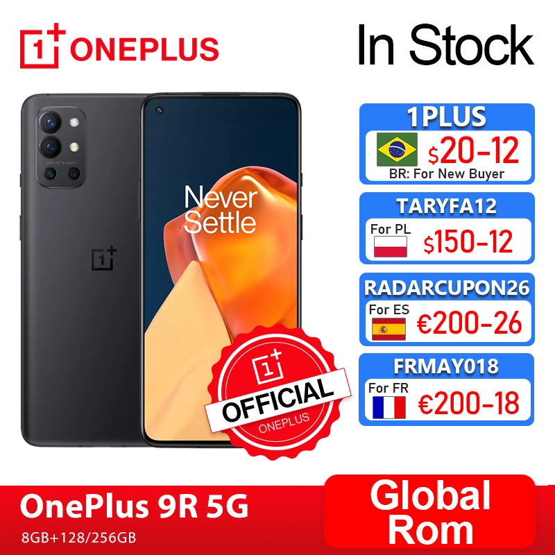 Rom global oneplus 9r 9 r 5g smartphone 8gb 128gb snapdragon 870 120hz amoled display 65w warp 48mp quad oneplus loja oficialcode: 1PLUS($20-12:For Brazail new buyer), br21tech($50-7) ae21tech29($199-29) tech199cymye