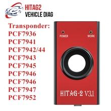 HITAG-programador de 2 teclas HiTag2 V3.1, herramienta de diagnóstico Universal WINXP, lector de código VIN Pin Immo, transpondedor remoto