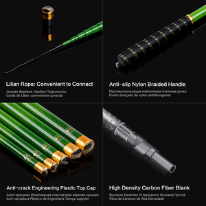 Image 3 - Goture Telescopic Fishing Rod Carbon Fiber 3.0m 7.2m Stream Fishing Rods Ultra Light Hand Pole Carp Fishing Feeder Rod Tenkara