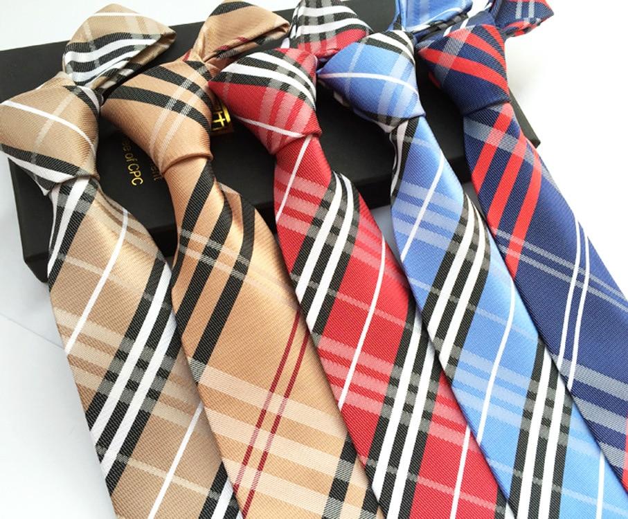 Scottish Grid Series Polyester Men's Tie For Formal Business Event Festival Gift For Men