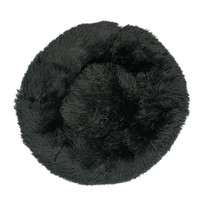 Black-Round Cat Beds House Soft Long Plush Best Pet Dog Bed For Dogs Basket Pet