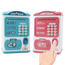 Alcancía electrónica segura con huella dactilar para niños, cajas sensoriales para dinero, compatible con billetes de banco, caja registradora, juguetes de regalo para ahorrar dinero