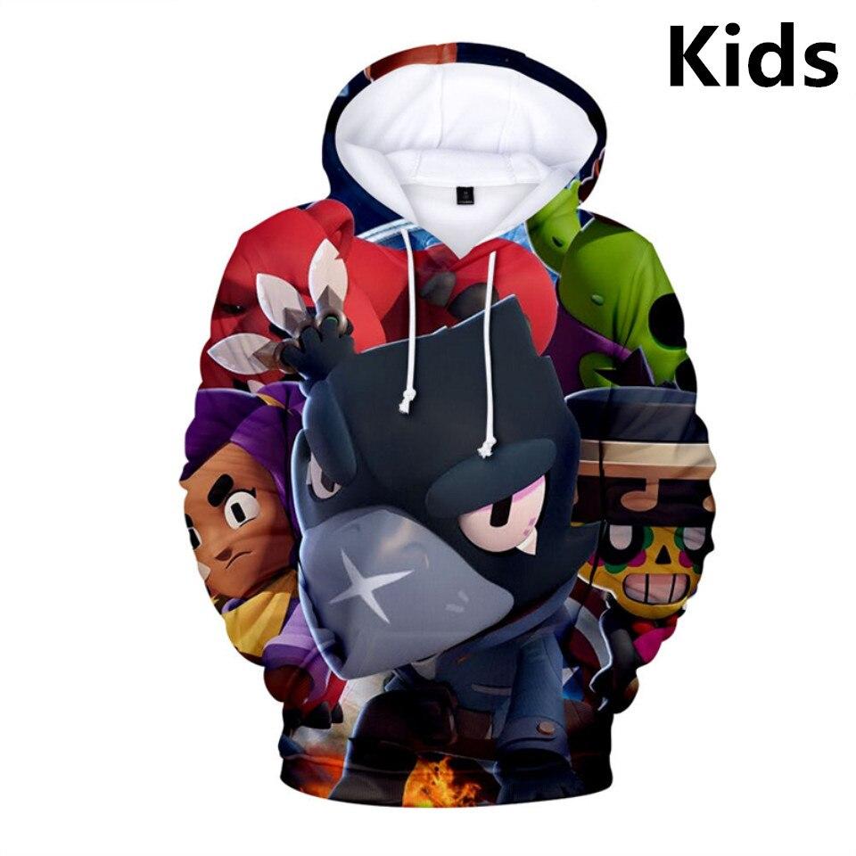 3 To 14 Years Kids Hoodies Shooting Game 3D Printed Hoodie Sweatshirt Boys Girls Harajuku Cartoon Jacket Tops Teen Clothes