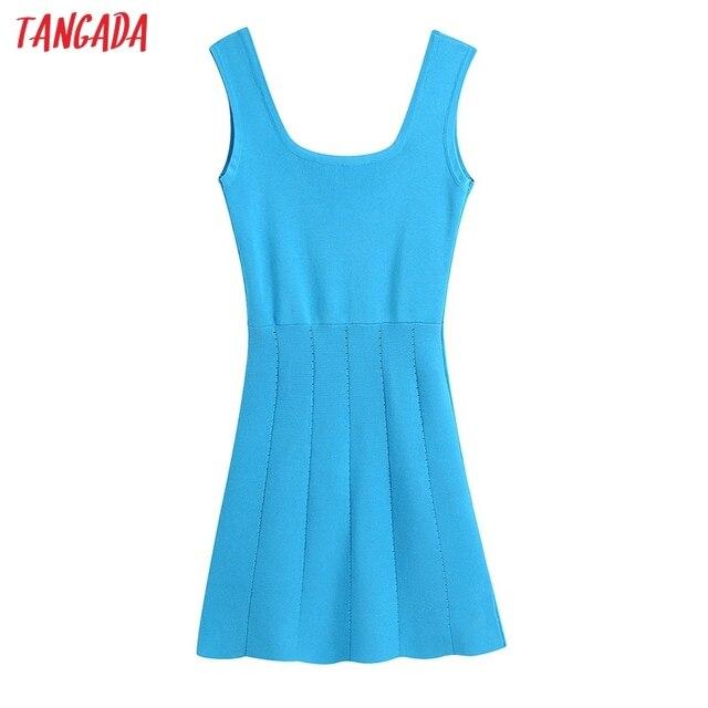Tangada 2021 Summer Women Striped Oversized Robe Dress Short Sleeve Ladies Midi Dress Vestidos CE175 1