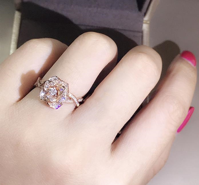 Silver Color Engagement Ring Zirconia Jewelry Rings Fashion jewelry rose gold and Gold women Crystal ring 26