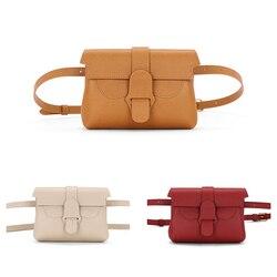 Elegante bolso de cintura de cuero 2020 nuevo bolso de mujer de marca de nicho Retro bolso de mensajero de cuero de moda de la bolsa de pecho