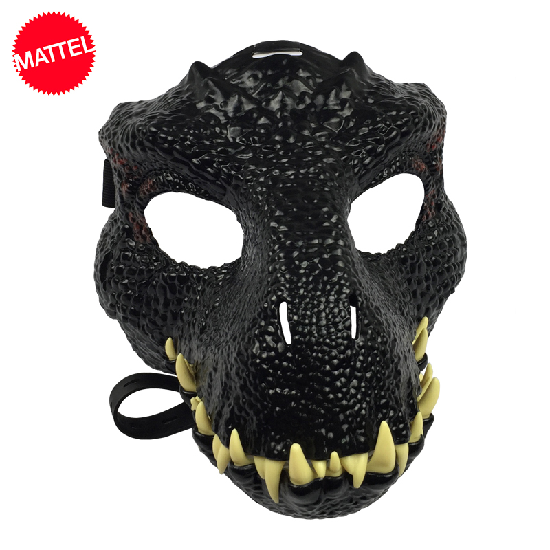Mattel Original Jurassic World Dinosaur Mask Toy Realistic One Piece Halloween Cosplay Party Props Costumes Adults Toys For Boy