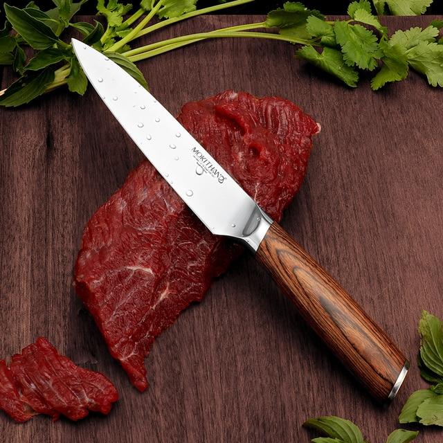 Cuchillo de cocina japonesa Set de cuchillos de Chef profesional Alemania 1,4116 de acero de alto carbono vegetal Santoku cuchillo de pan para cocinar 3