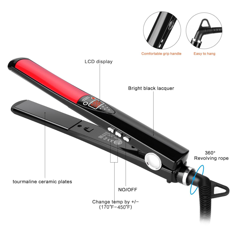 Отрицательный ионный выпрямитель для волос светодиодный цифровой индикатор MCH быстрый нагрев бигуди рулон прямой двойного использования э