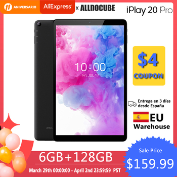 Alldocube iPlay20 Pro Phone call Andorid 10.0 Tablets 10.1 inch 6GB RAM 128GB ROM  Octa-core Tablet PC BT 5.0 Type-C 6000mAh 1
