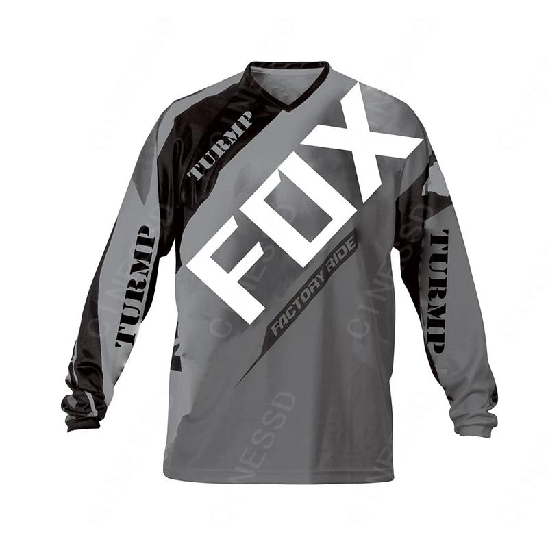 Long Cycling Jersey MTB Bike Shirt Jacket Clothing Ride Motocross Sports Black
