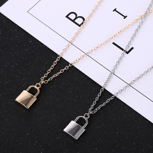 New European and American Jewelry Simple Fashion Metal Plating Lock Necklace Ladies Pendant Clavicle Chain Hot Sale