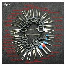 36 pçs fio elétrico extrator ferramentas manuais kit plugue do carro ferramenta de remoção terminal pino agulha retrator picareta