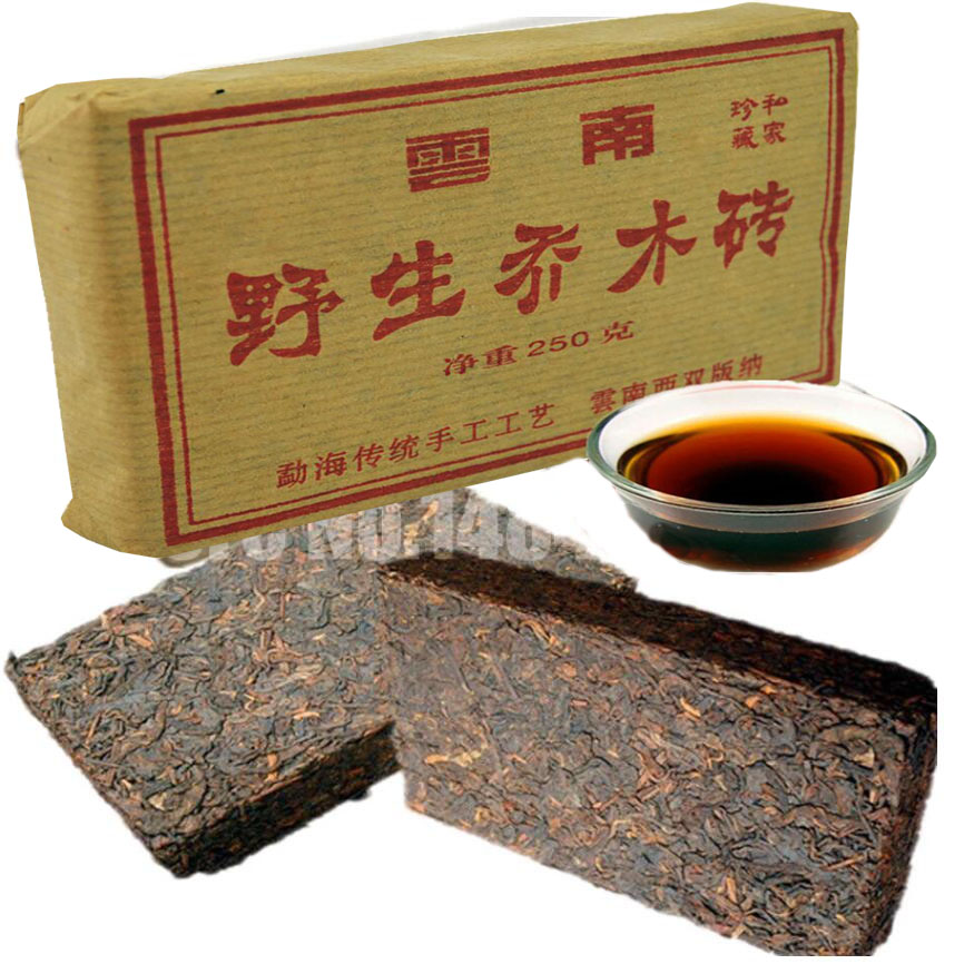 2005 china Tea Brick old cha pu'er Tea Brick health care slimming loose weight 250g Yunnan Menghai pu-erh tea Green Food