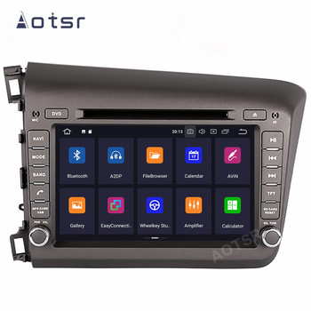 AOTSR Android 10 Car Radio For Honda Civic 2012 - 2015 Central Multimedia Player GPS Navigation DSP IPS 2 Din Stereo Autoradio image
