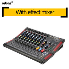 DJ mixer 99 kinds of DSP effects Bluetooth recording mixer 48v phantom power home performance(China)