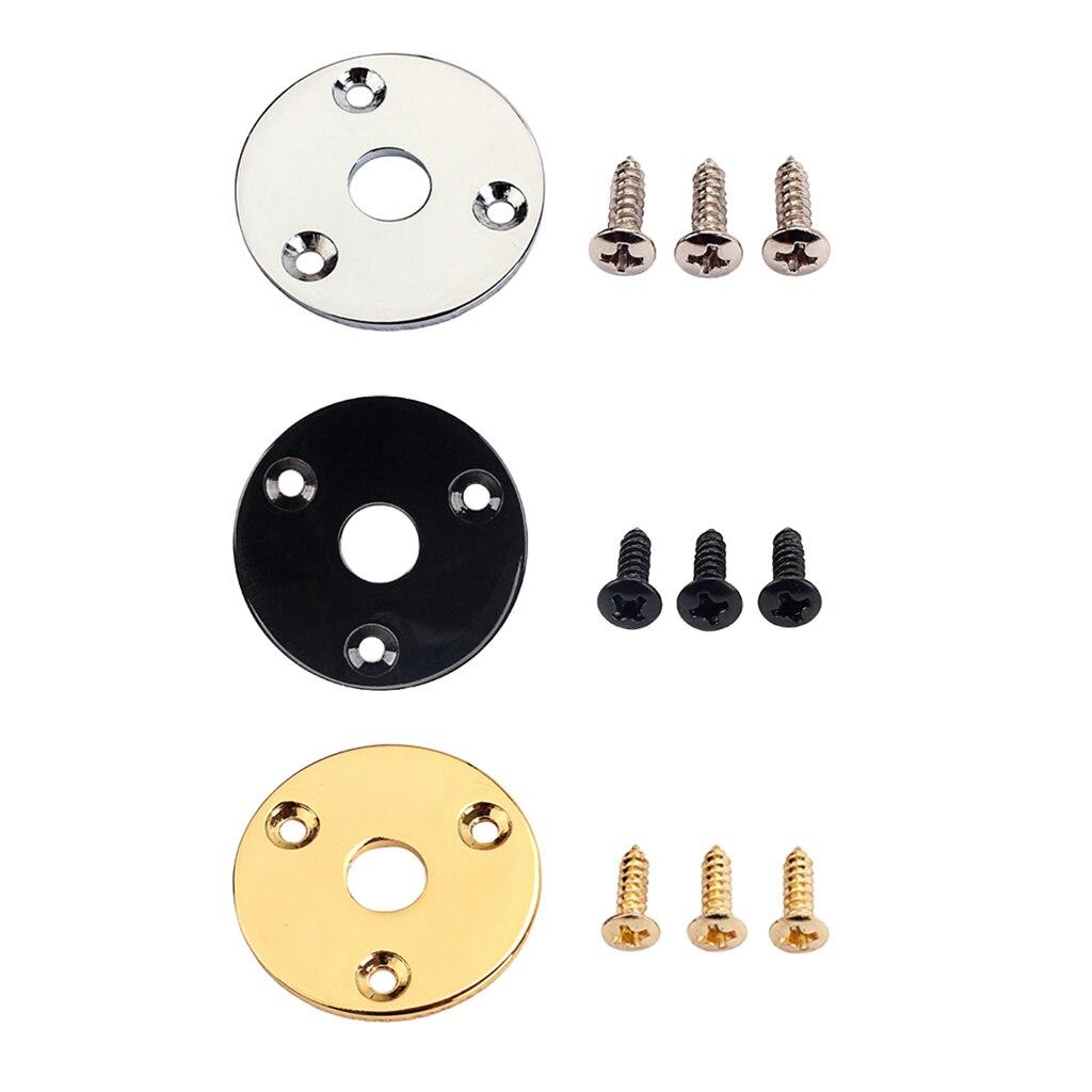 Metal Round Jack Plate Guitar Output Jack Plug Socket For Electric Guitar Bass Parts