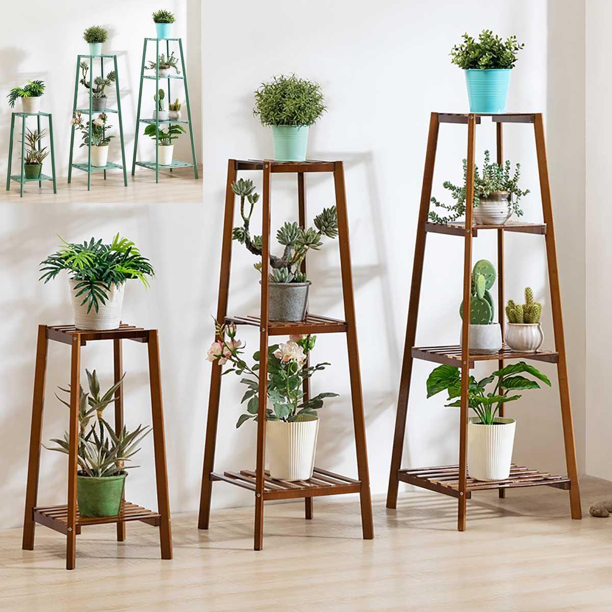 Wood-Stand Multi-Storey-Shelf Plants Landing-Type Indoor 4 for Light-Extravagant Flowerpot