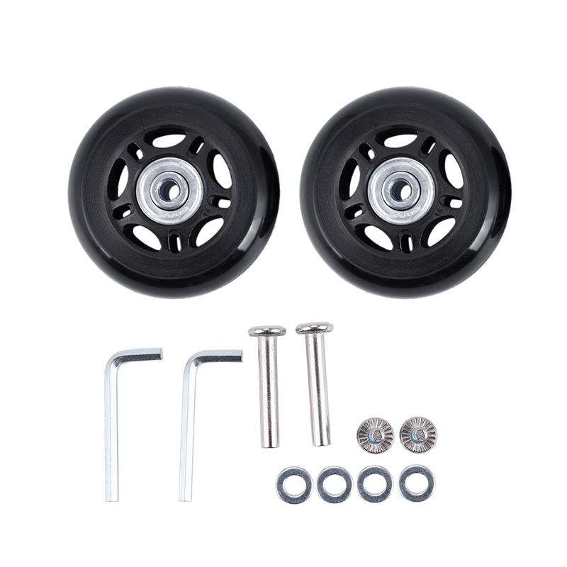 2 Set Luggage Suitcase Replacement Wheels Axles And Wrench Repair Set OD 68mm