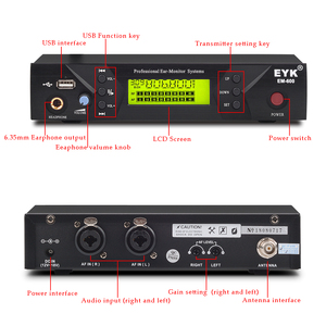 Image 2 - EM 600 UHF Wireless In Ear Monitor System Professional Stage Performance Ear Monitoring Systems with One Bodypack Transmitter