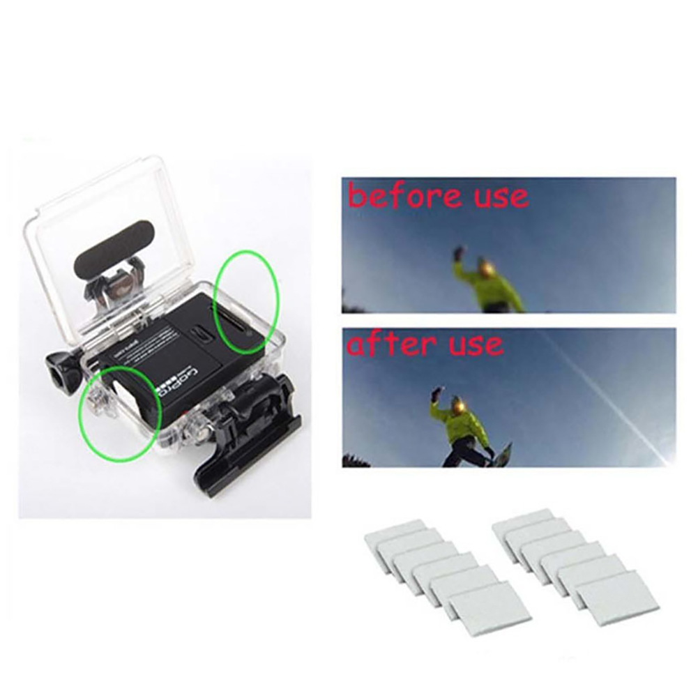 12pcs Anti Fog Inserts Diving Waterproof Inside Cold Housing Sports Camera Drying Reusable Skiing Humid For Gopro Hero 5 3+ 4