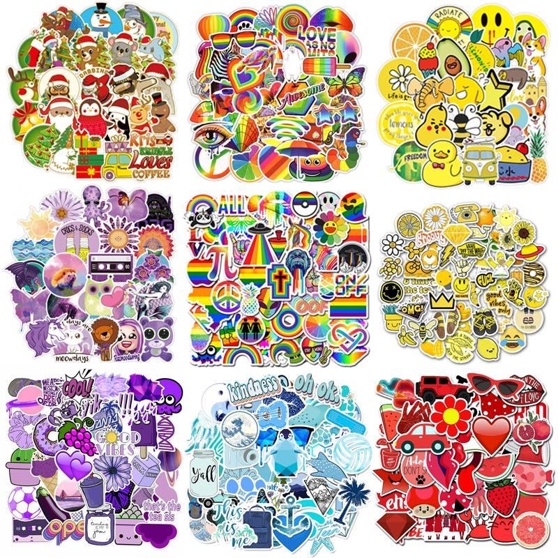 50/70PCS Cartoon Christmas Colors Stickers For Chidren Toy Waterproof Sticker DIY Suitcase Laptop Bicycle Case Car Decal Girl F4