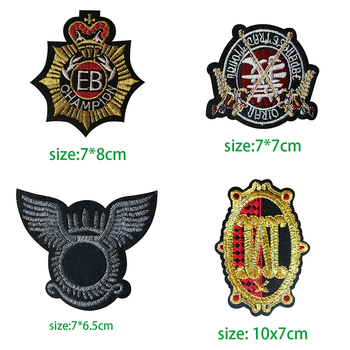 Marine Corps Tactical Knight Medal Icon Embroidered Applique Patches for Clothing DIY Iron on Badge on the Backpack image