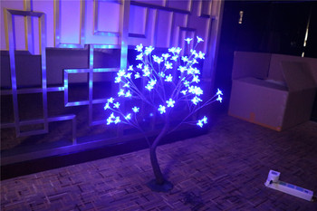 96 LED Cherry Blossom Tree Light in 70cm Height , Holiday blossom tree light, standing cherry tree light wedding decoration