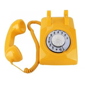 Image 5 - ヴィンテージ電話レトロ固定電話ロータリーダイヤル電話デスク電話コード電話機のためホームオフィス品質