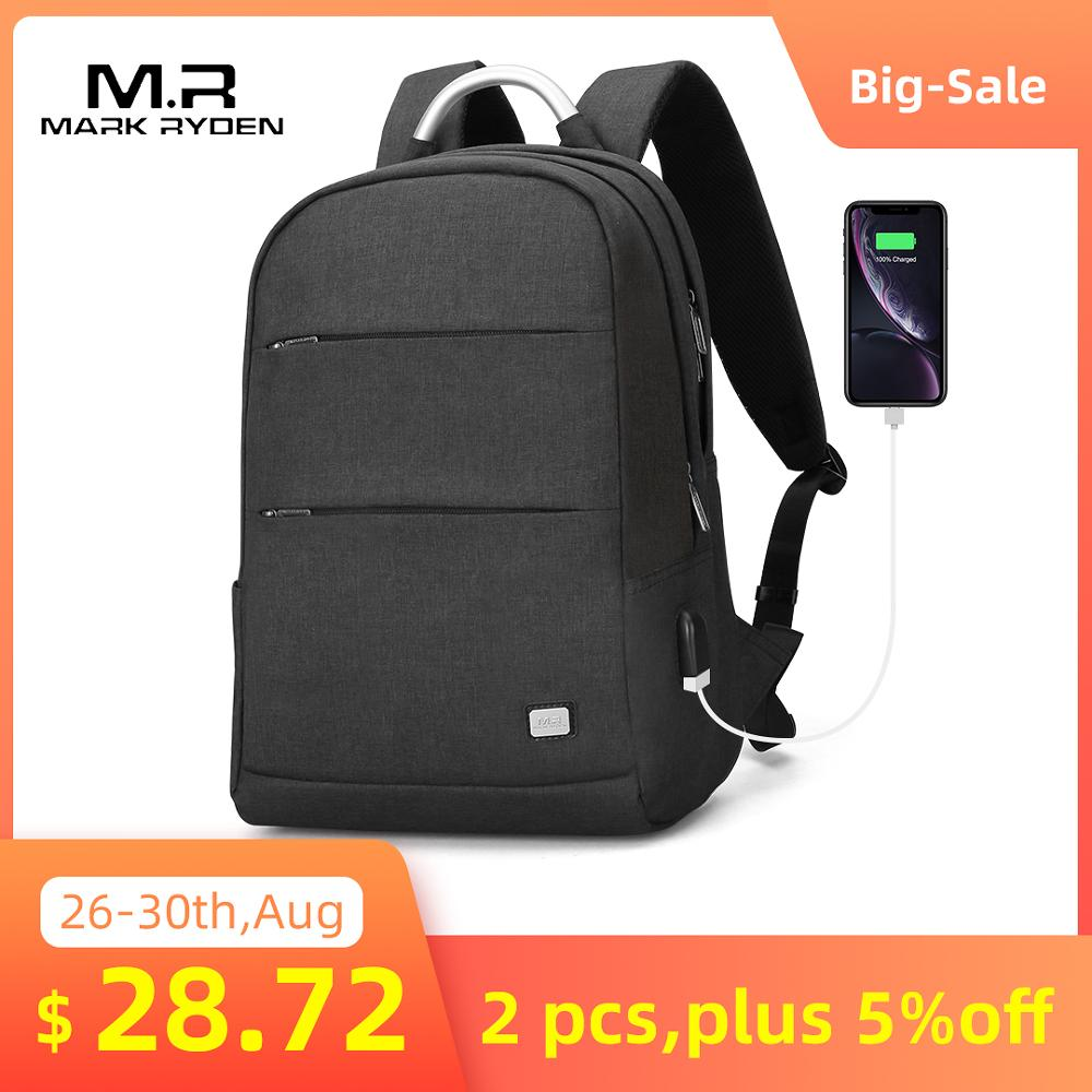 Backpack Waterproof Bag Mark Ryden Anti-Thief Male Portable Fashion Two-Size Usb Recharging