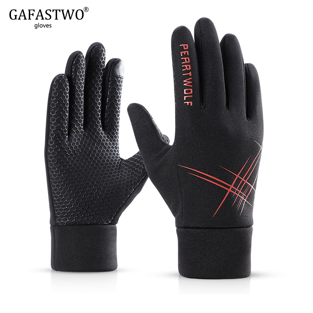 Autumn And Winter Plus Velvet Warm Sports Touch Screen Gloves Men And Women Cold And Windproof Waterproof Outdoor Riding Gloves