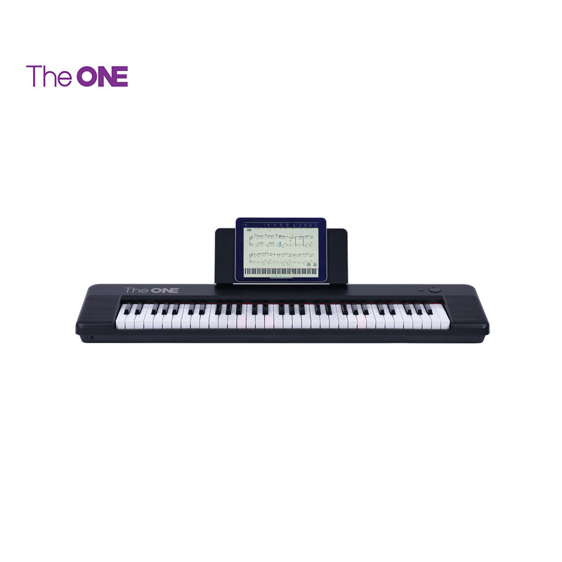The ONE Keyboard Air, 61-Key Ultra-thin And Portable Keyboard, Bluetooth Connection Electric MIDI Keyboard, Black