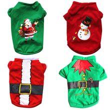 Рождественская Одежда для собак хлопковая одежда домашних питомцев