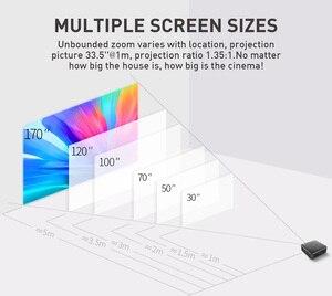 Image 2 - GloryStar Android 9.0 wsparcie 4K Mini projektor 3D HD przenośny mikro WIFI Bluetooth DLP mobilny projektor LED z baterią P11