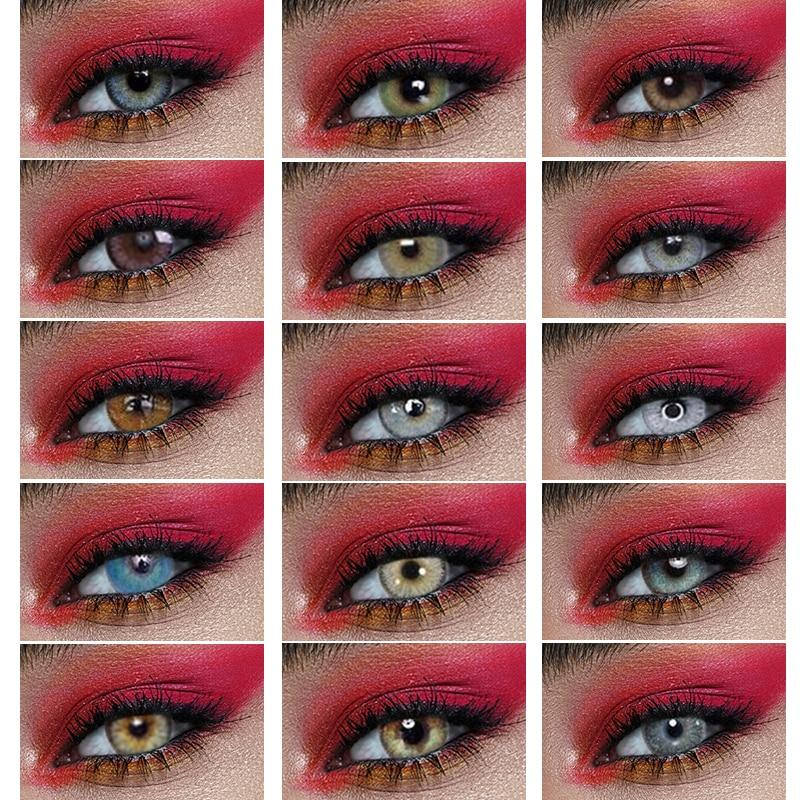 1 Pair colored contact lenses Beauty Pupil Contact Lenses for eyes Cosmetic Degree myopia 2pcs/pair prescription Comfortable|Contact lenses|   - AliExpress